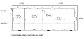 Commercial/Retail Design Services - Tenant Plan