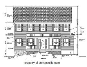 construction plan - Haddonfield, New Jersey - new remodeling proposed addition - construction drawing